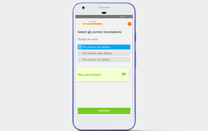 اپلیکیشن Duolingo